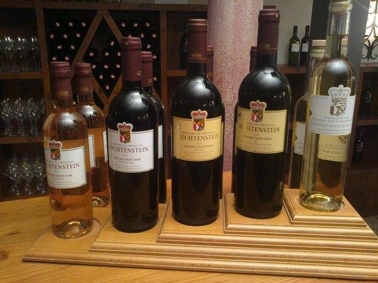 Hofkellerei (Wine Cellars) of the Prince of Liechtenstein: five of cellars' products