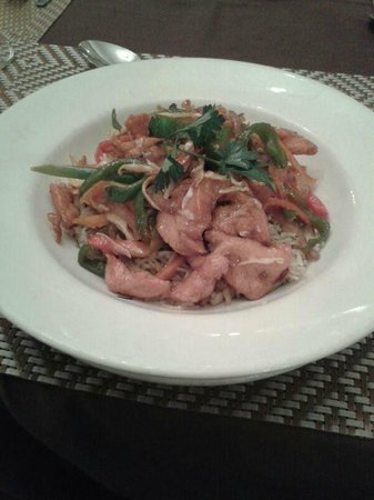 BON Hotel Abuja:                   Chicken noodles for dinner