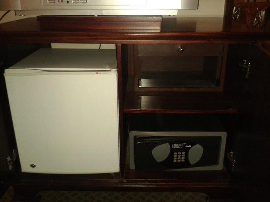 Protea Hotel Abuja:                   Fridge and safe