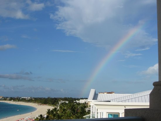 Seven Stars Resort & Spa: While eating wings on our balcony, we saw a rainbow!  How perfect!