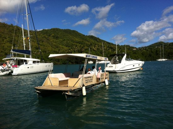 Marigot Beach Club and Dive Resort:                   The very efficient and charming ferry