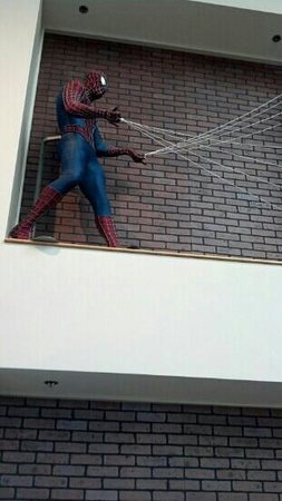 Children's Museum of Indianapolis: Spiderman in the lobby