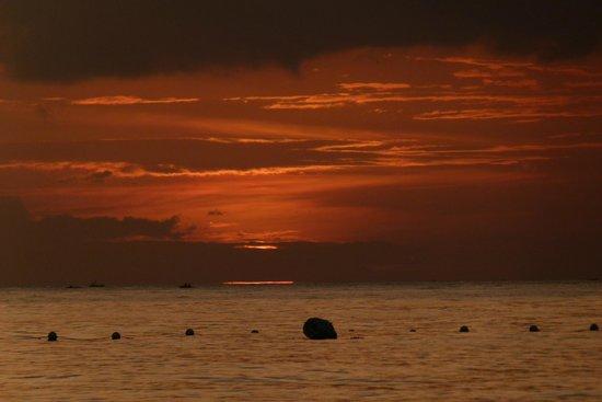 Coco Grove Beach Resort: coucher de soleil vu de la plage