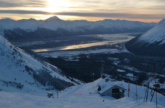 Hotel Alyeska: View from the top facing Turnagain Arm