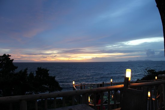 Soneva Kiri: The view , we had dinning here.