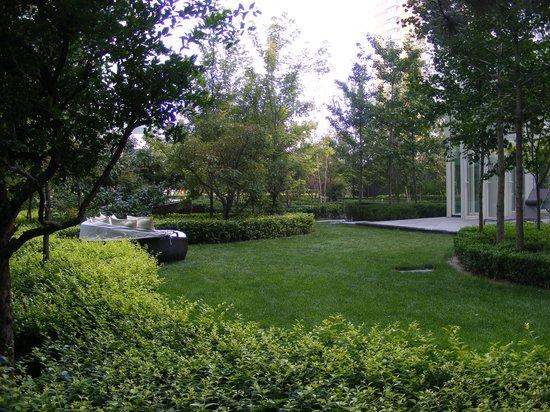 DoubleTree by Hilton Beijing: rooftop garden area
