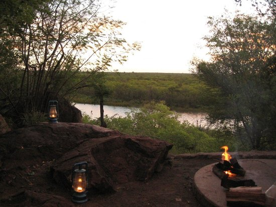 Mopani Rest Camp: View from braai & fire pit area (bbq)