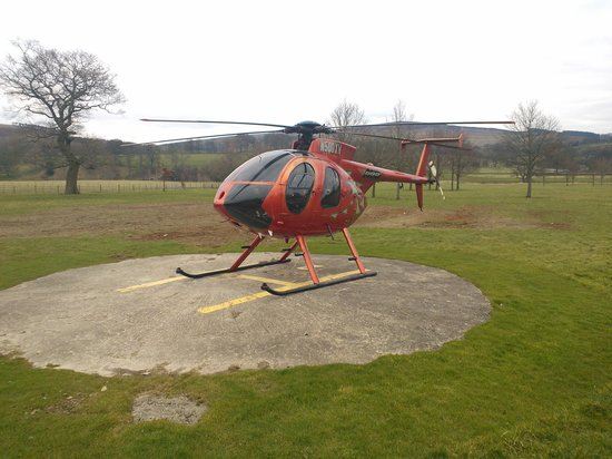 The Devonshire Arms Hotel & Spa:                   Not one but two helipads!