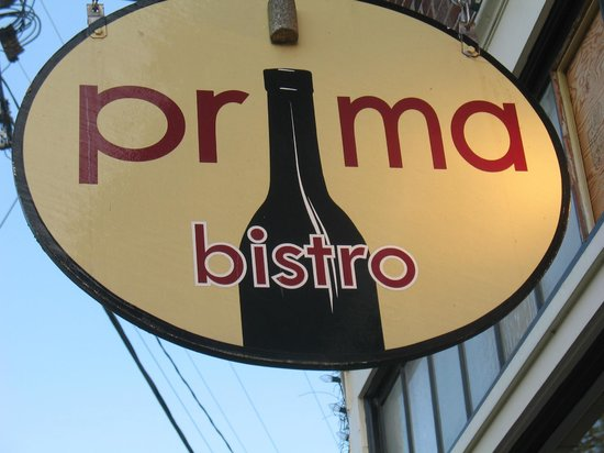 Prima Bistro: Outside the restaurant