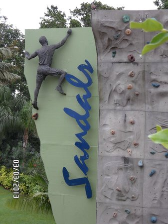 Sandals Ochi Beach Resort: Rock climbing Wall
