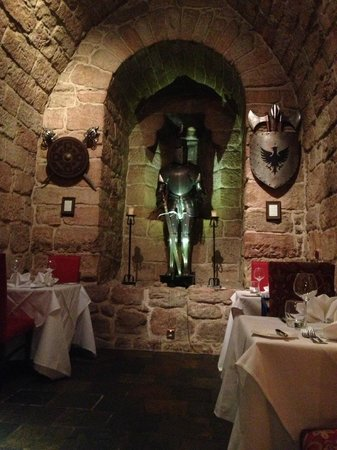 Dalhousie Castle: The Dungeon restaurant