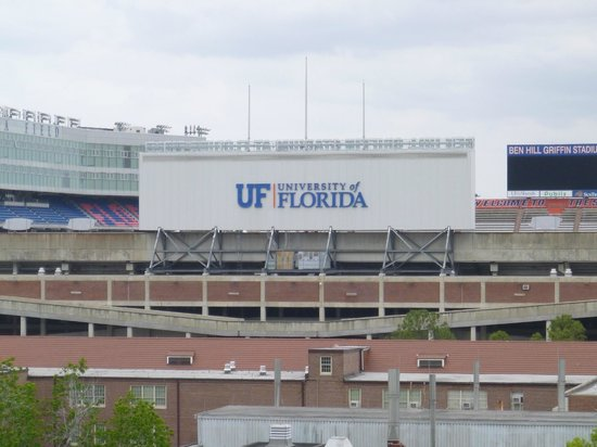 Reitz Union Hotel - UF Campus: view of stadium from room