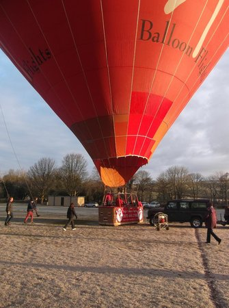 Virgin Balloon Flights - Burton in Lonsdale: Inflating the balloon
