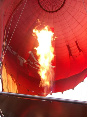 Virgin Balloon Flights - Burton in Lonsdale: The burner
