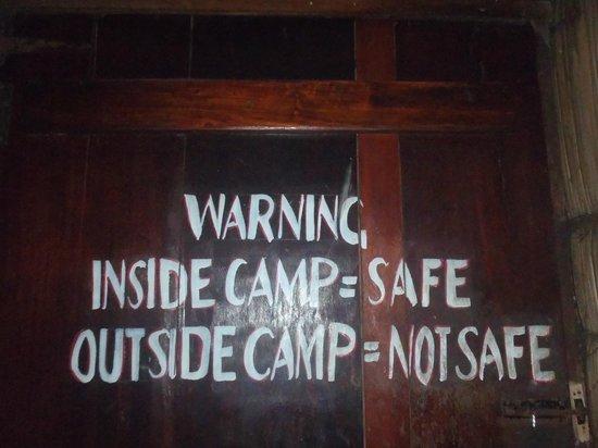 Mikadi Beach: One of the warnings
