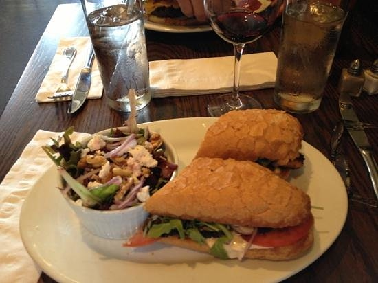 The French Press: blackened redfish poboy with side mixed green salad!   delicious!!!