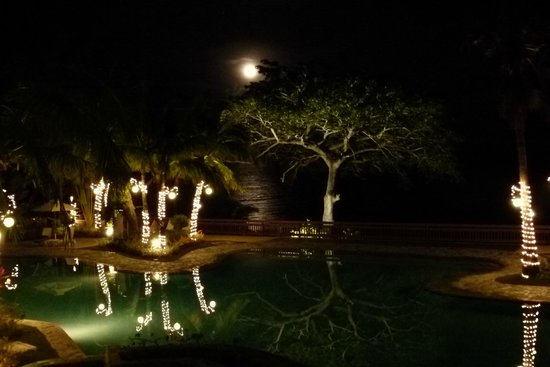 Alegre Beach Resort: la piscine la nuit