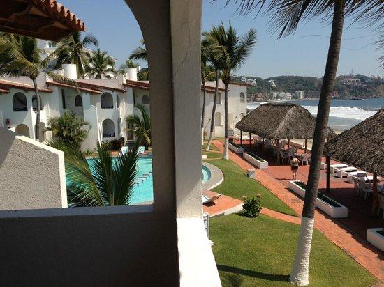 Second floor balcony of our room at Casablanca Alamar.