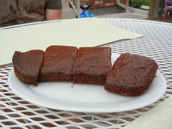 Two Rivers Bed & Breakfast: Homemade fig brownies made by Emina! Scrumptious!