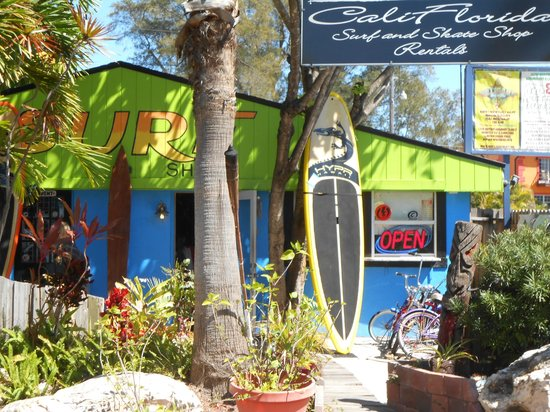 The Capri at Siesta: View From Gilligans to a Surf Shop Gift Store at Siesta Key Village