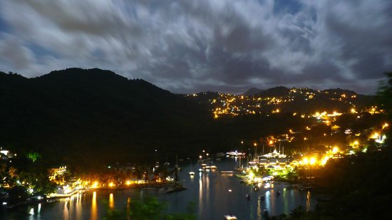 Marigot Bay, St. Lucia: View at Night