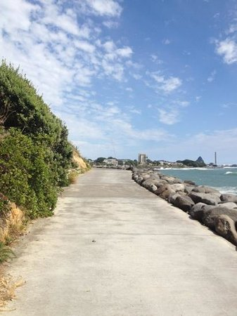 Coastal Walkway: looking back towards town