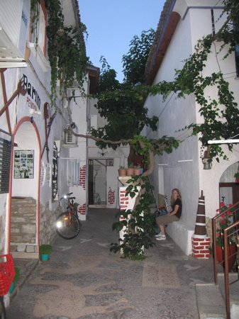 Barim Pension:                                     first courtyard of pension