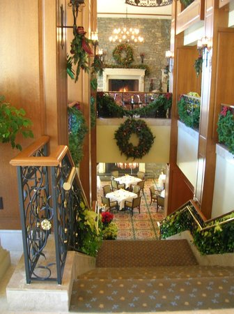 Inn on Biltmore Estate:                   One of the Dinning areas inside the Biltmore Estates Inn during Christmas Seas