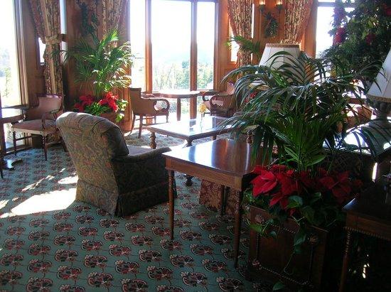 Inn on Biltmore Estate:                   Biltmore Estates Inn, Inside Lobby/Lounge area during Christmas Season