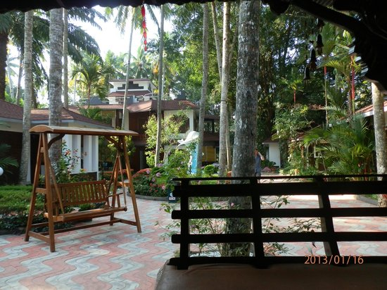 Akhil Beach Resort: View from the cafeteria..