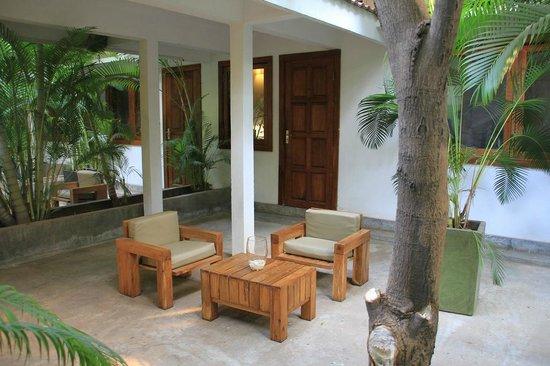 The Kabiki: Our concrete terrace / garden.