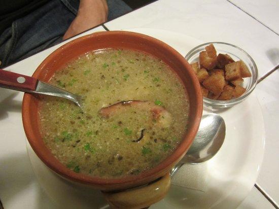 U dvou hrabalu:                   soupe avec du lard...etc