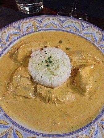 Pinotage Restaurante and Cafe: pollo al curry .... de muerte!!!