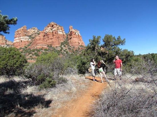 The Red Agave Resort: walking the trails right off the property