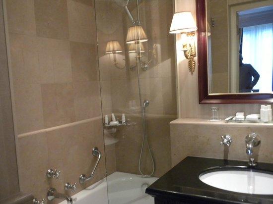 Hotel Francois 1er: microscopic bathroom