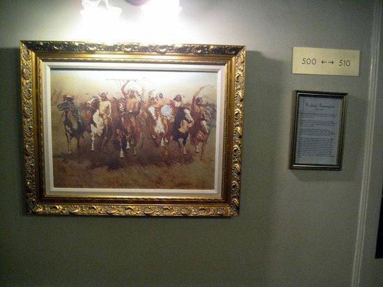 Hotel San Carlos:                   Period art on walls in the hall