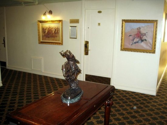 Hotel San Carlos:                   Hallways have period pieces of art and news