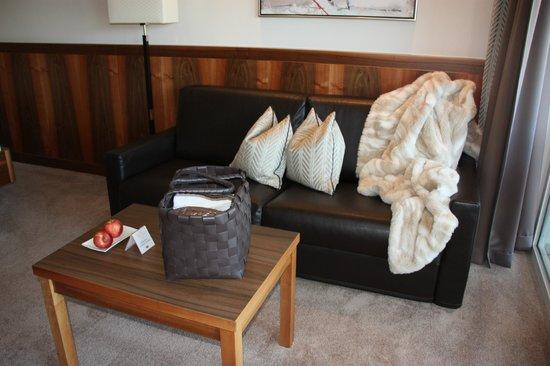 Hotel Der Mesnerwirt: Sitzecke Suite Elegance