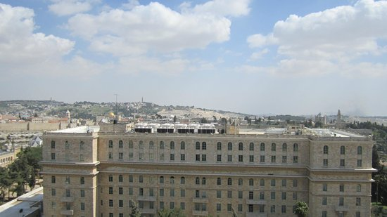 Jerusalem International YMCA: King David Hotel and Mount Olive wiew from YMCA tower