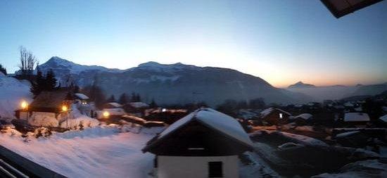 la Croix de Savoie:                   evening view from our room