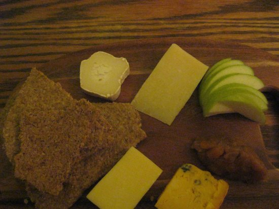 The Monarch Hotel & Church Ruin:                   Cheese platter