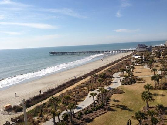 view of the pier from 8th floor picture of holiday sands. Black Bedroom Furniture Sets. Home Design Ideas