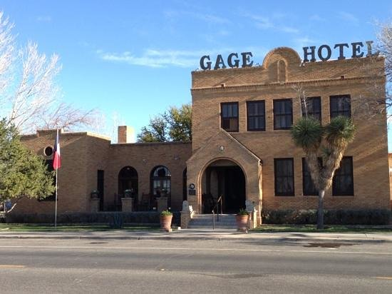 Gage Hotel: this doesn't tell you much about the quality, but I think the building's great.