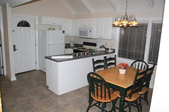 Waterwood Townhouses:                   The Kitchen and Dining room