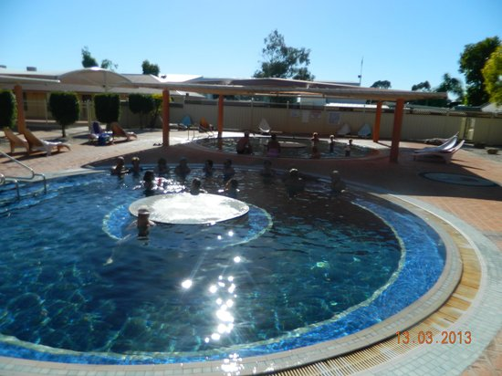 Moree, Australia: First view of the pools