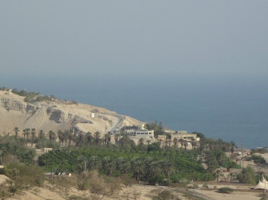 Ein Gedi Hotel: view of dead sea - leaving kibbutz