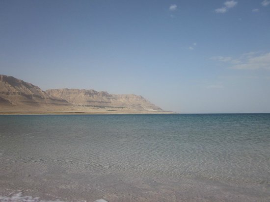 Ein Gedi Hotel: dead sea - view from spa - kibbutz on hill