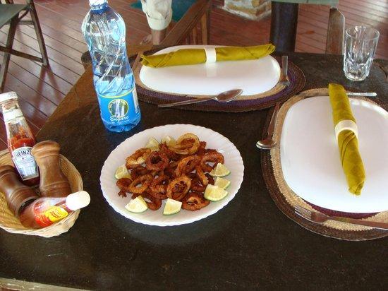 Avicennia Island: calamari appetizer