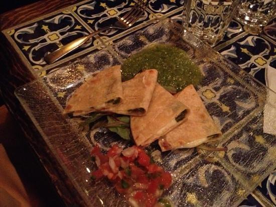 Casa Romero: vegetarian quesadillas