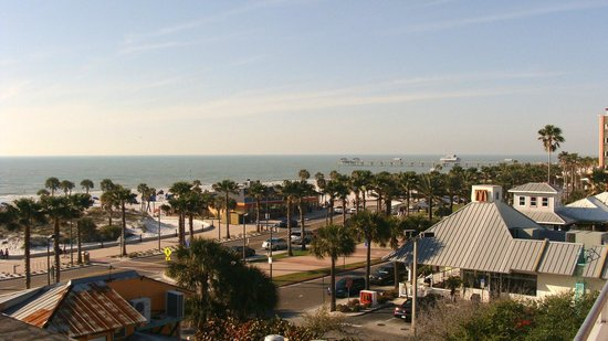 """Beachwalk Inn: Beach just across street - view from 5th floor room #50 AKA """" Lovers Suite"""""""